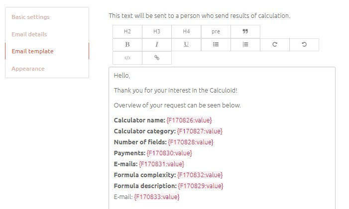 Calculoid Email - ROI Calculator