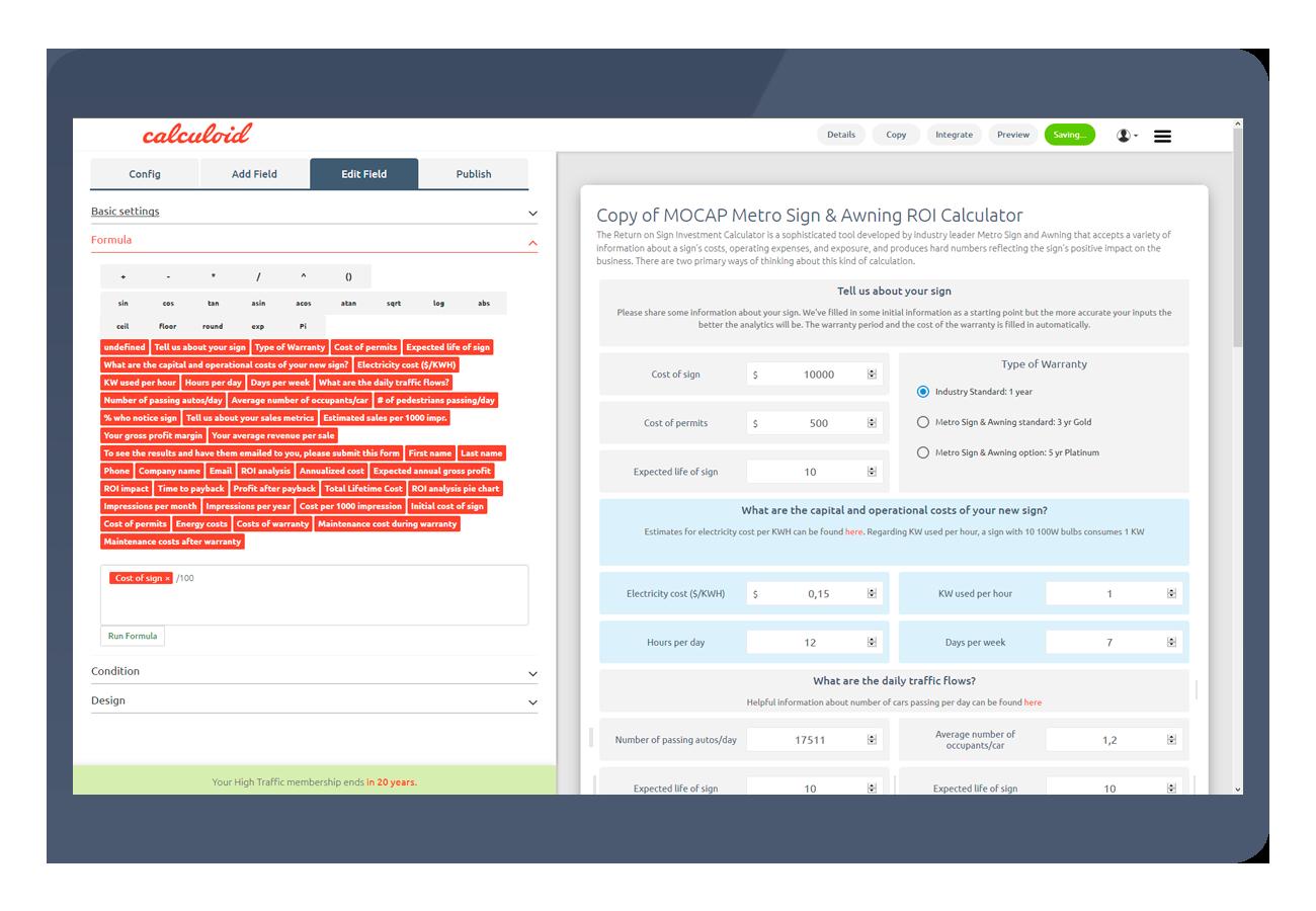 Calculoid-Funktionen Excel wie 1300x900