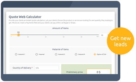 Calculoid Solutions Quote Calculator preview