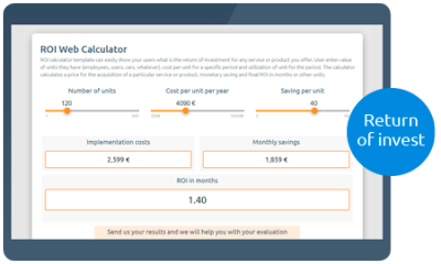 Calculoid ROI Web Calculator Vorschau