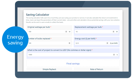 Calculoid Saving Web Calculator preview